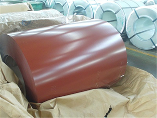 China Hot Dip Galvalume Color Coated Steel Coil Thermal Insulation 15um - 25um PVDF supplier