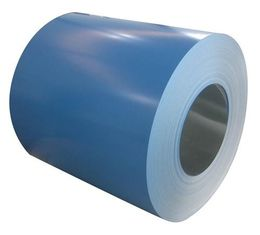 China Ral Color PE Resin Paint Color Coated Steel Coil Z60g - Z275g For Building Materials supplier