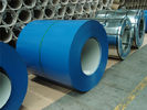 China Blue Color Coated Galvanized Steel Coil , Polyester Paint Color Steel Coil factory