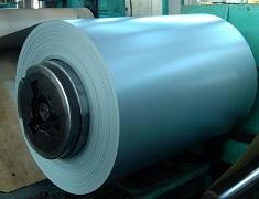 Green / White Color Coated Galvanized Steel Coil , ASTM  HDP Paint GI Steel Coils