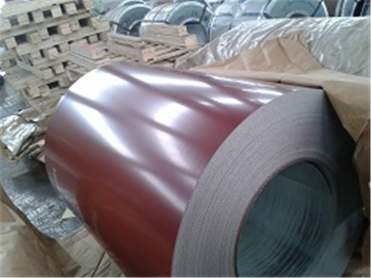 Custom Prepainted Galvanized Steel Coil , 0.14mm-1.6mm PPGI Steel Coil