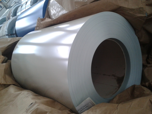 DX51D+AZ GL AZ80g Prepainted Galvalume Steel Coil White Blue For Metal Roof