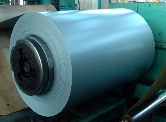 Roofing Pre - painted Galvanized Steel Coil , Cold Rolled Color Coated Steel Coil