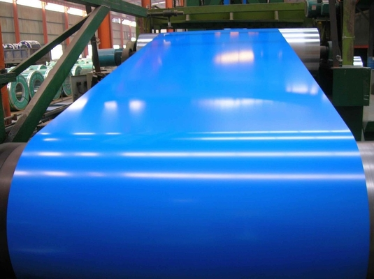 25um Paint Color Coated Galvanized Steel Coil 4 Feet Sea Blue JIS G3312 CGCC G550