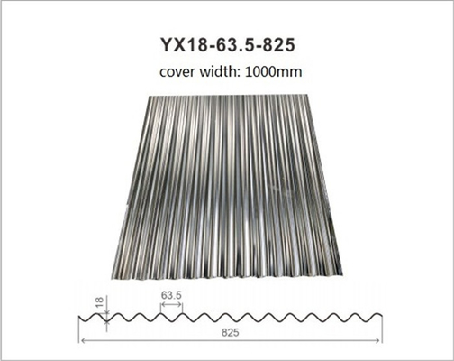 Hot Dipped Galvanized Corrugated Metal Roofing Tiles Thickness 0.14mm - 1.2mm